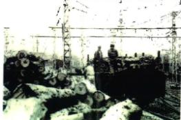 引込線での材木積込み(昭和38年)