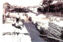 引込線の公用材木(昭和17年頃)